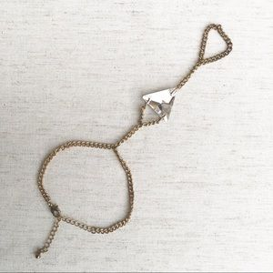 Gold & Crystal Hand Chain